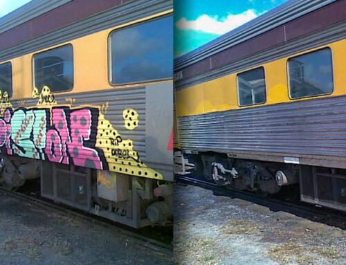 Graffiti On Public Transport