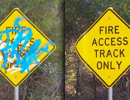 Graffiti On Road Signage