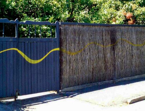 Graffiti On Brush Fence