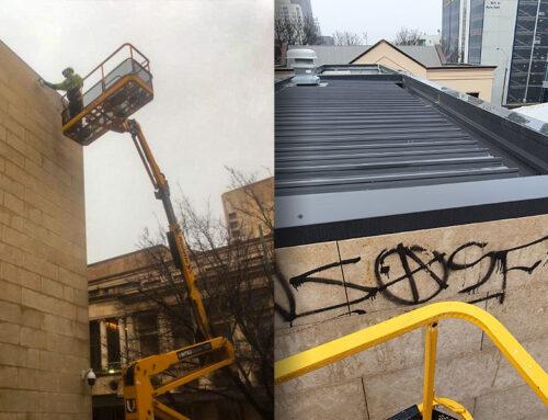 Graffiti Removal At Heights